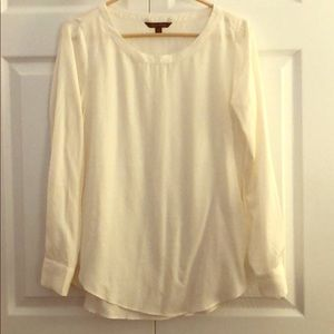 Banana Republic cream blouse.  Size S